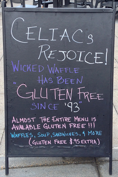 Who could resist this great sandwichboard advertising?
