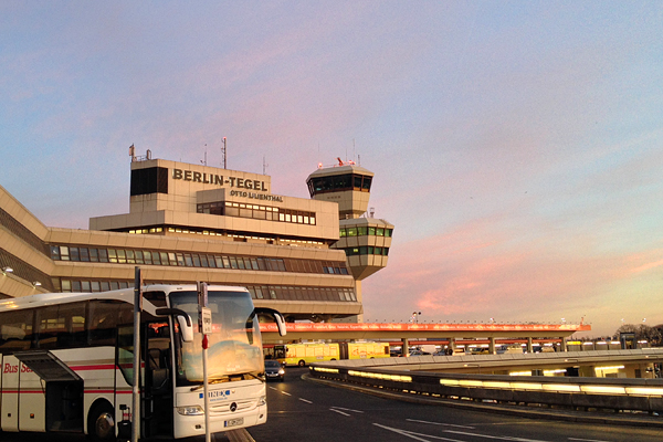 Sunrise at Tegel Airport, Berlin