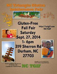 NC Triangle Gluten Intolerance Fair