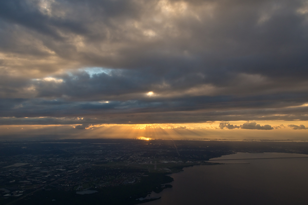 Sunset from 5,000 miles above Tampa