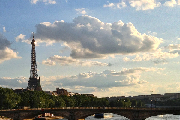 Eiffel Tower across the Seine