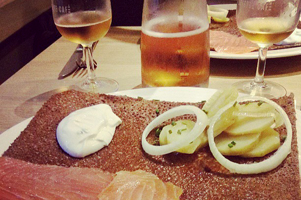 Buckwheat galette and cider