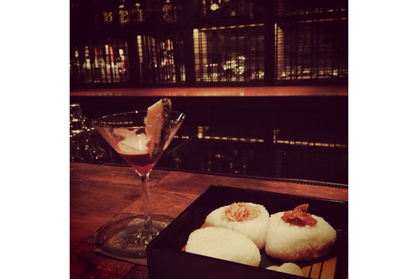 Onigiri and tropical cocktails at Touzan