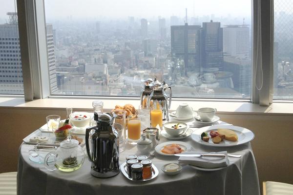 Room service at the Park Hyatt Tokyo