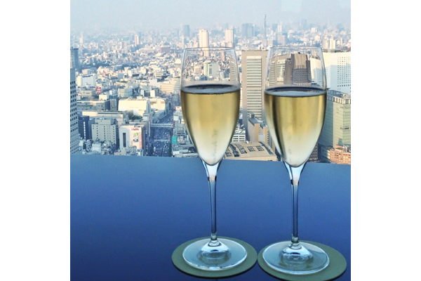 Champagne for two at the New York Bar