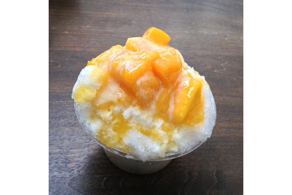 Mango shave ice at Miraikan