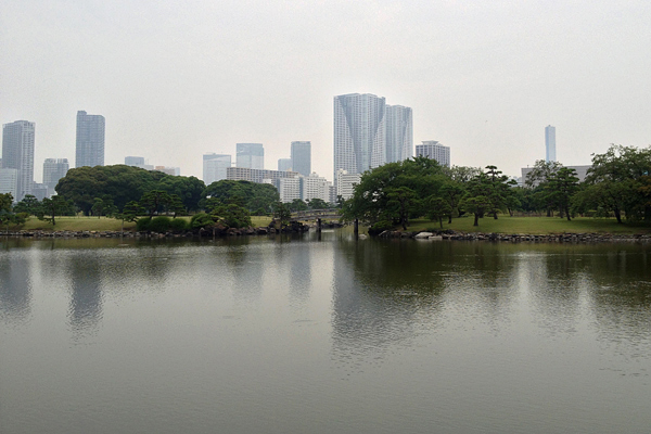 Ginza from Hama Rikyu Gardens