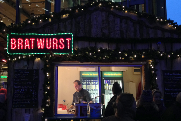 Wurst at Winterwelt Potsdamer Platz