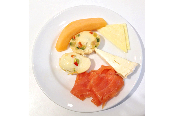 Grand Hyatt New York Gluten-Free Smoked Salmon, Eggs, and Cheese