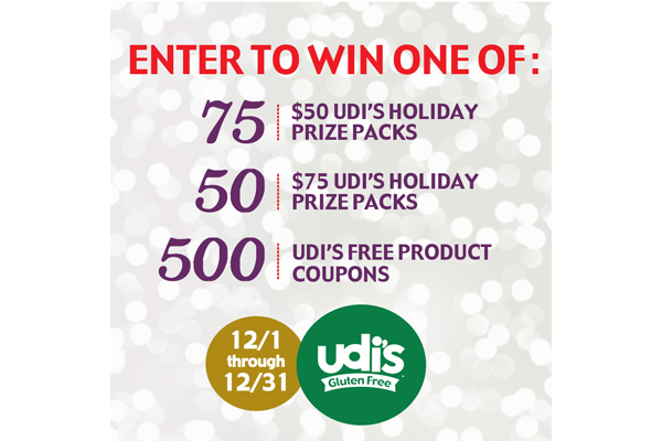 Eat, Drink, and Be Merry with Udi's Gluten Free