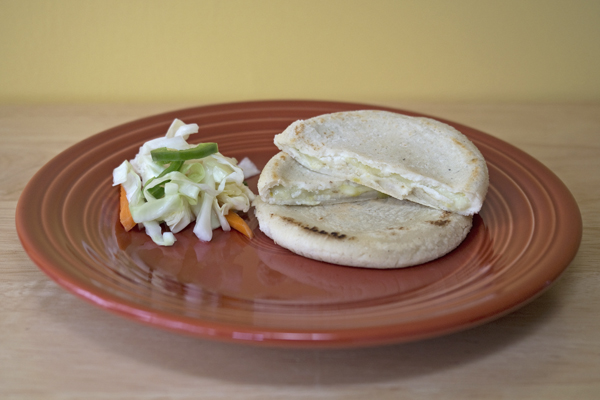 Tres Pupusas green chile and cheese