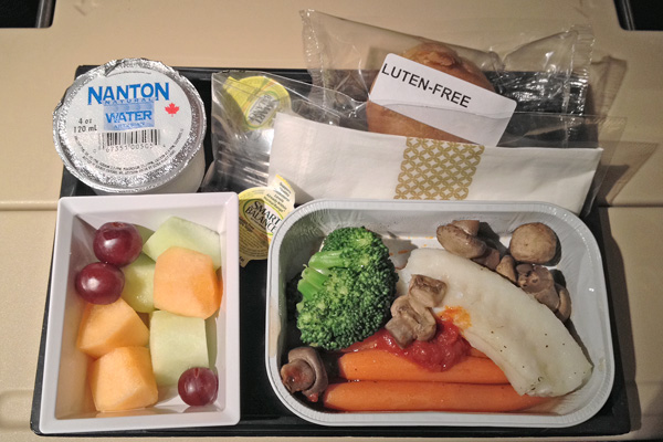 Etihad Airways gluten-free meal